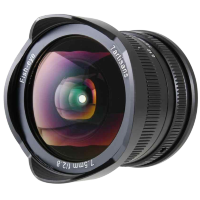Объектив 7Artisans 7.5mm F2.8 Fisheye X-Mount Чёрный