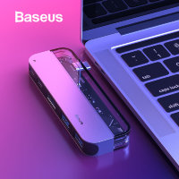 Хаб Baseus Transparent Type-C Серый