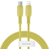 Кабель Baseus Colourful Cable Type-C - Lightning 18W 1.2м Жёлтый